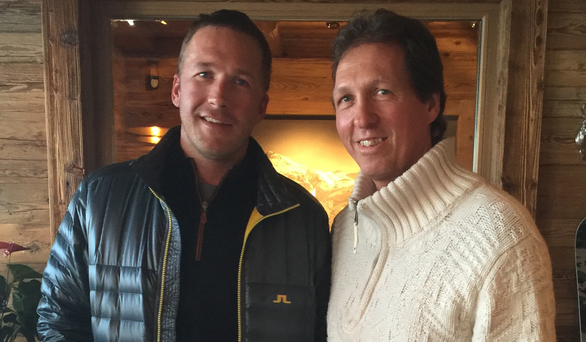 Bode Miller und Daniel Chardon in der Hahnenkamm Lodge. 20.01.2016