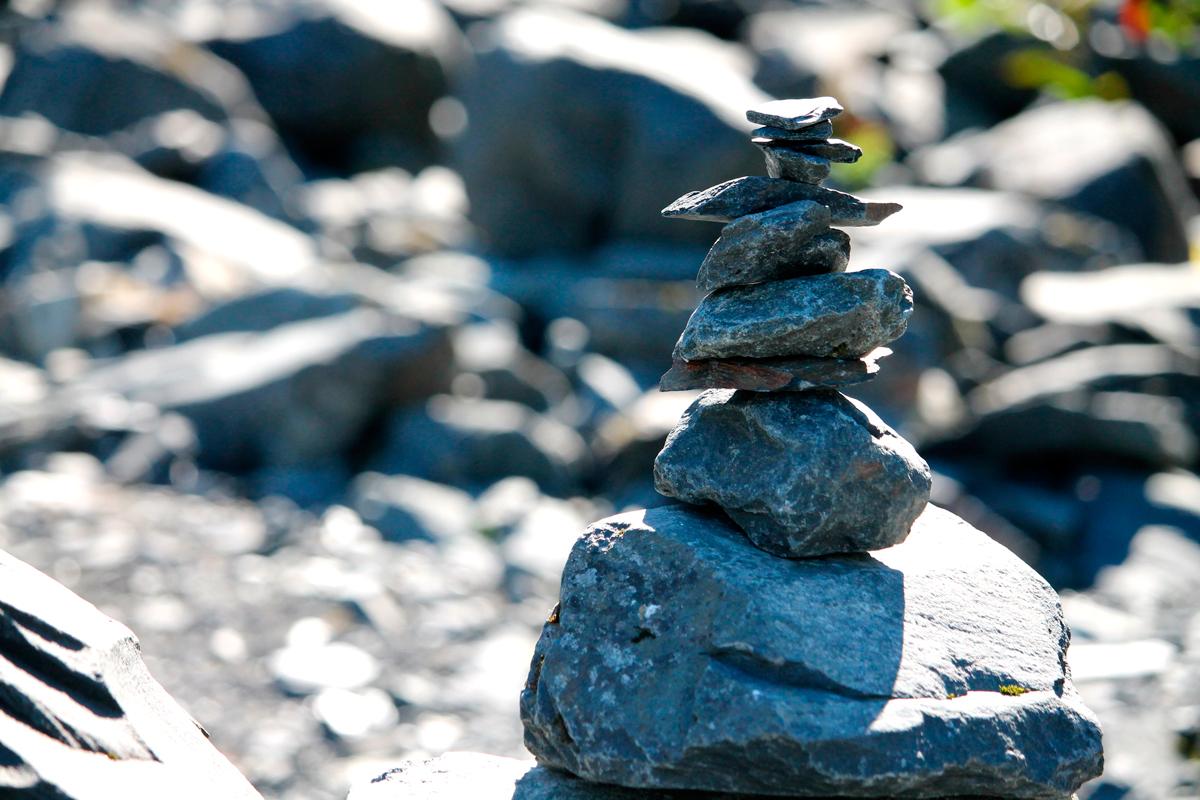 Kunstweg Steine